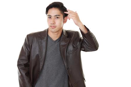 liveliness: Portrait of a handsome man