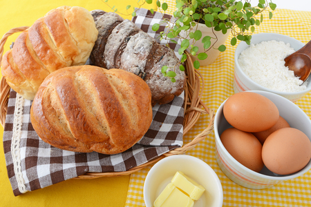 Tasty breads Stock Photo
