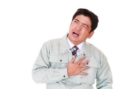 Adult man suffering from severe heartache