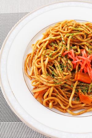 Japanese yakisoba noodles