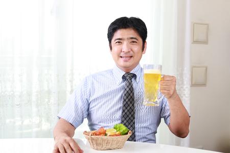 Portrait of a drunk man