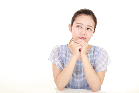 Woman who is worried 写真素材