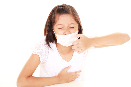 lugubrious: Girl with a bad cold Stock Photo