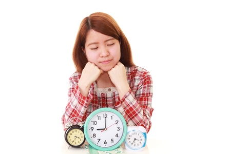 Relaxed young woman at home 版權商用圖片
