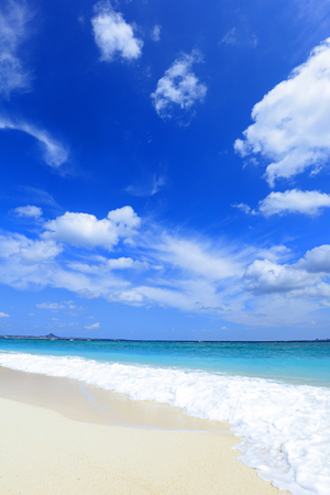 Blue sky and sea of Okinawa Stock Photo