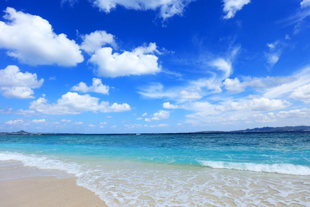Schöner Strand in Okinawa Standard-Bild