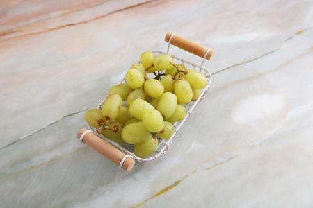 Fresh fruit in basket. 版權商用圖片