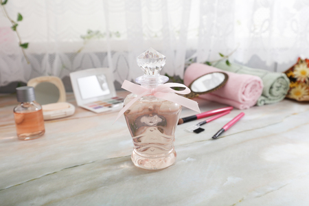 Cosmetic products on the table. 写真素材