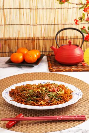 Japanese cuisine fried noodles yakisoba