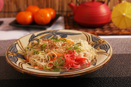 Delicious stir fried thin noodles