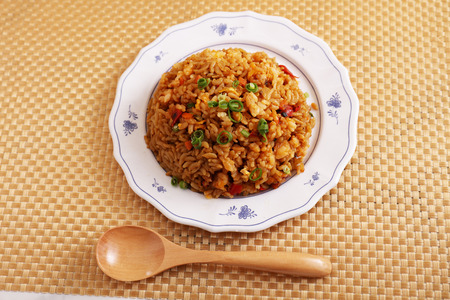 Fried rice in a dish