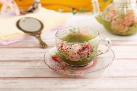 A cup of tea with pot Reklamní fotografie - 123092249