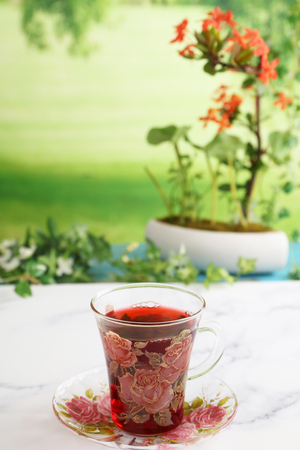 A cup of roselle tea
