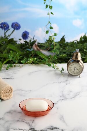 Bath and spa products with alarm clock