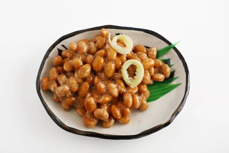 Japanese cuisine fermented soybeans in a dish Stock fotó