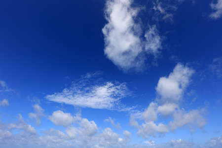 Blue sky and white clouds in Okinawa