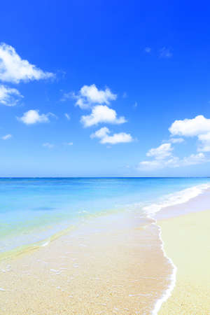 Picture of a beautiful beach in Okinawa. 免版税图像