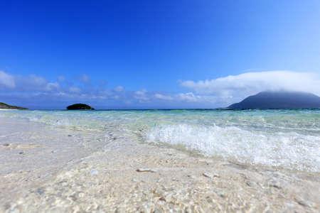 Blue sky and clear sea of Okinawa.