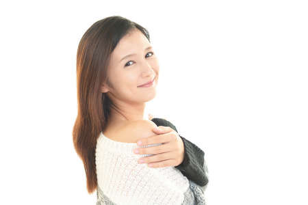 Attractive Asian young woman. 免版税图像
