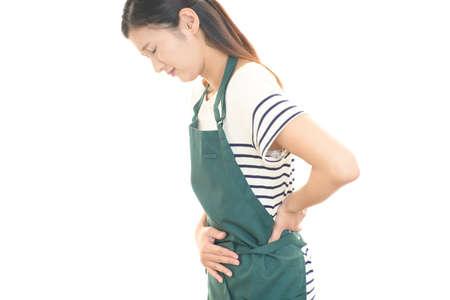 Woman who has a stomachache. 免版税图像