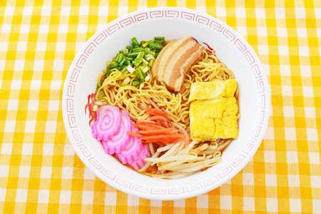 Delicious Japanese ramen noodles.