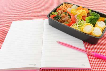 Tasty homemade lunch box. 免版税图像