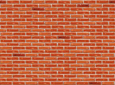 Red brick wall pattern seamless background.