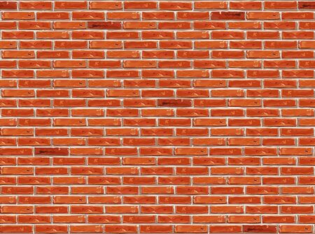 Red brick wall pattern seamless background.