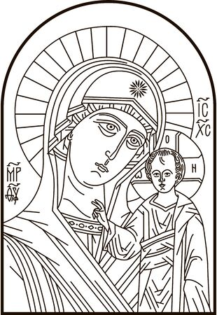 Our Lady of Perpetual Help Madonna and child vector