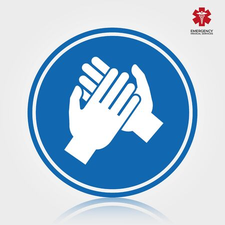 Hand wash icon. Vector illustration isolated.