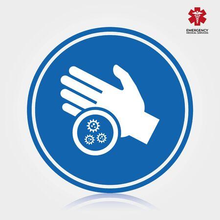 Icône de lavage à la main. Illustration vectorielle isolée.