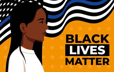 Black Lives Matter. woman. Vector Illustration