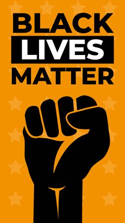 Black Lives Matter. Vector Illustration