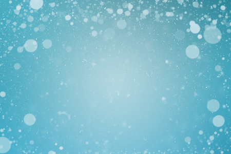 copy space: Winter blue snowflakes background with copy space