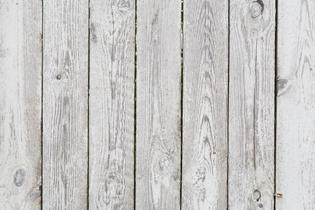 messily: White and grey vintage wooden planks abstract background, copy space