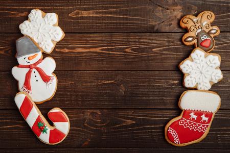gingerbread cookies: Christmas homemade gingerbread cookies Stock Photo