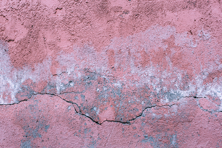 Grunge concrete cement wall with crack Stock Photo