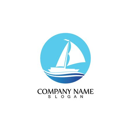 Sailing boat, Daily cruises, sea travel, vector logo-icon