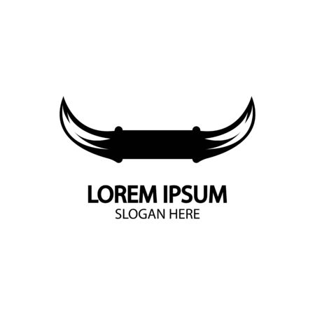 Bull horn logo and symbol template icons app