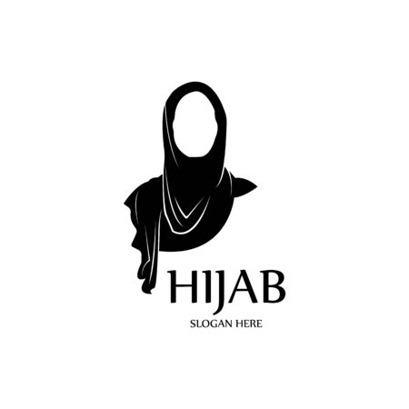 hijab women black silhouette vector icons app-vector