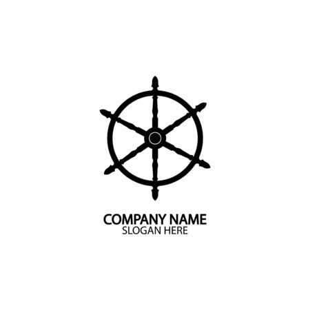 Ship and boat helm steering wheel boat and maritime rudder icon ship steering wheels - vector. Vecteurs
