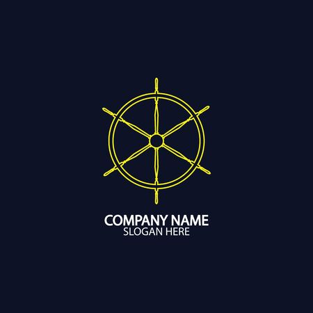 Ship and boat helm steering wheel boat and maritime rudder icon ship steering wheels - vector.