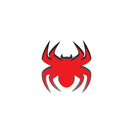spider illustration logo vector template-vector