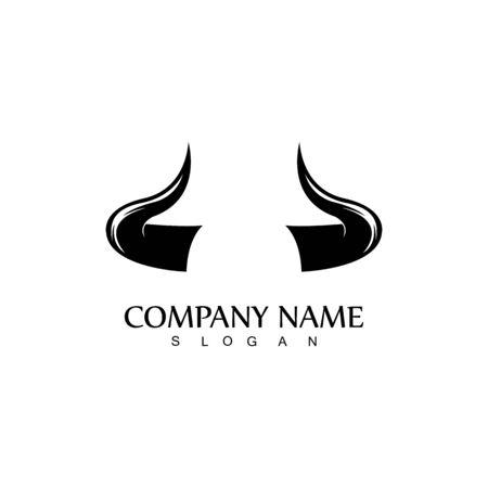 Bull horn logo and symbol template icons app Logo