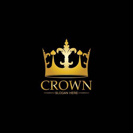 Crown Logo Template vector icon illustration design Logó