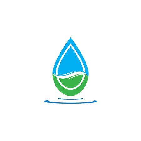 Water drop logo template illustration - Vector