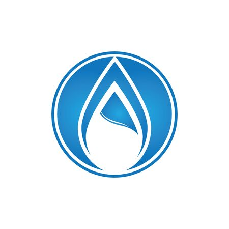 Water drop logo template illustration - Vector
