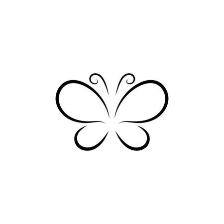 Butterfly conceptual simple Logo design template Vector illustration