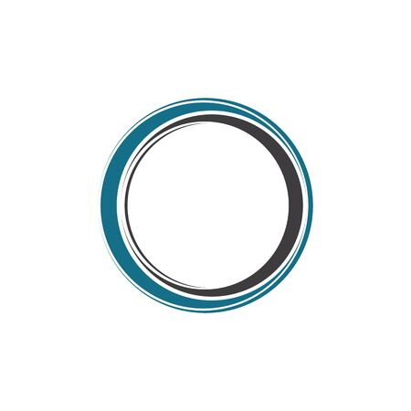 circle logo and symbols TEMPLATE Vector ILLUSTRATION