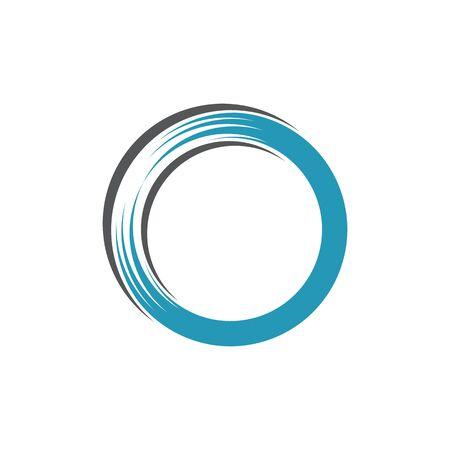 circle logo and symbols TEMPLATE Vector ILLUSTRATION